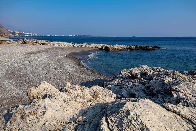 Image of Plakaki beach near Paleochora Crete