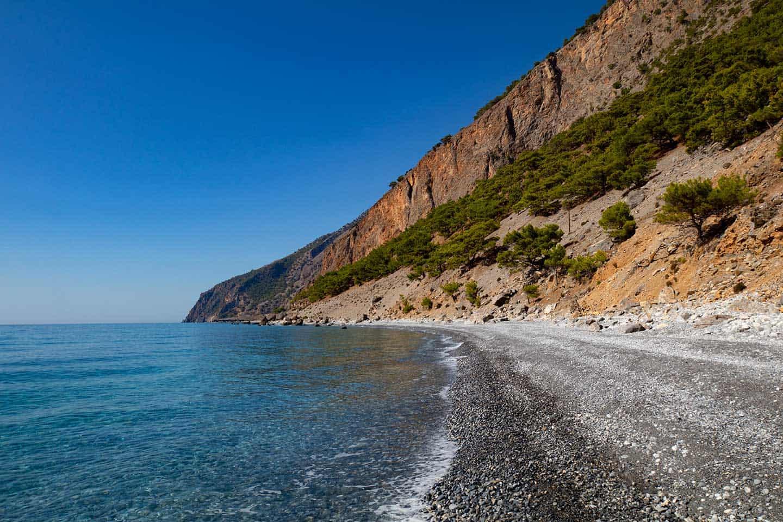 Image of pebble beach near Agia Roumeli Crete