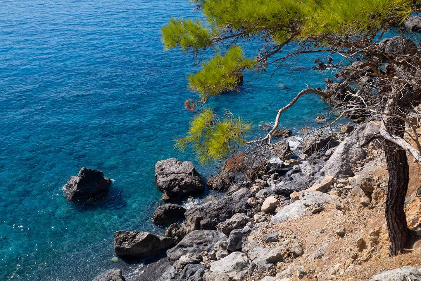 Image of the view from the E4 path near Agios Pavlos