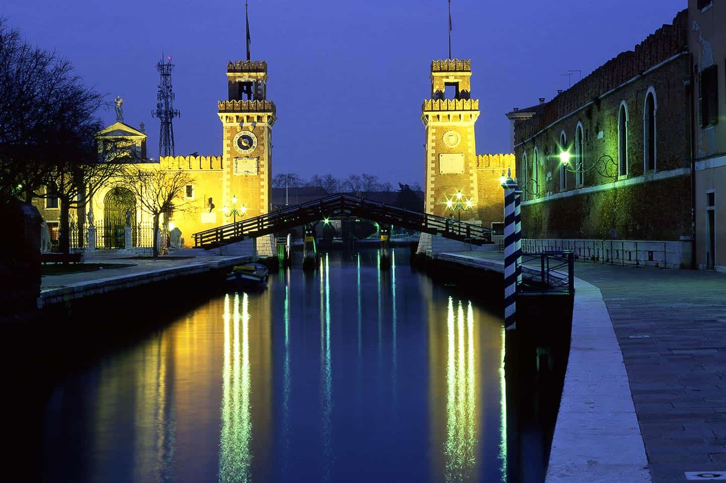 Image of the Arsenale gateway in Castello Venice Italy