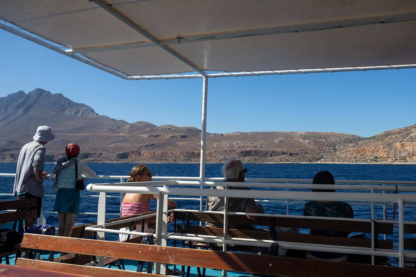Image of passengers enjoying the view from the Balos cruise