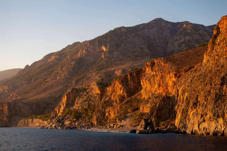 Where to go in Crete Image of remote Domata beach Crete
