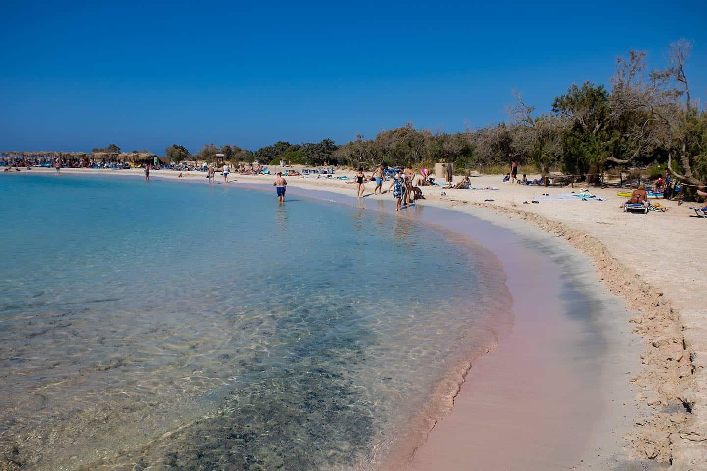 Crete Elafonissi beach Image of Elafonissi beach Crete