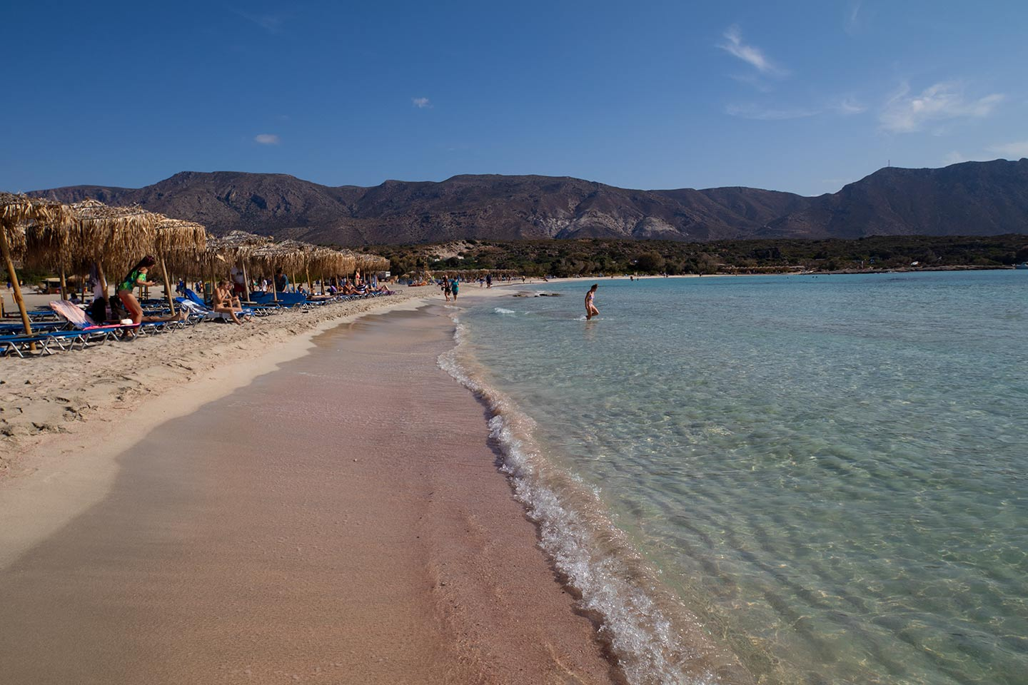 Elafonisi beach Image of the famous ELafonissi pink sand beach in Crete