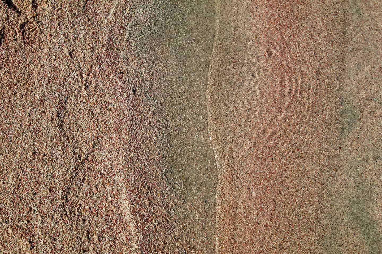 Elafonisi lagoon Image of pink sand close up at Elafonissi beach Crete