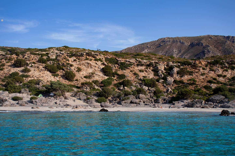 Image of Kedrodasos beach from the sea