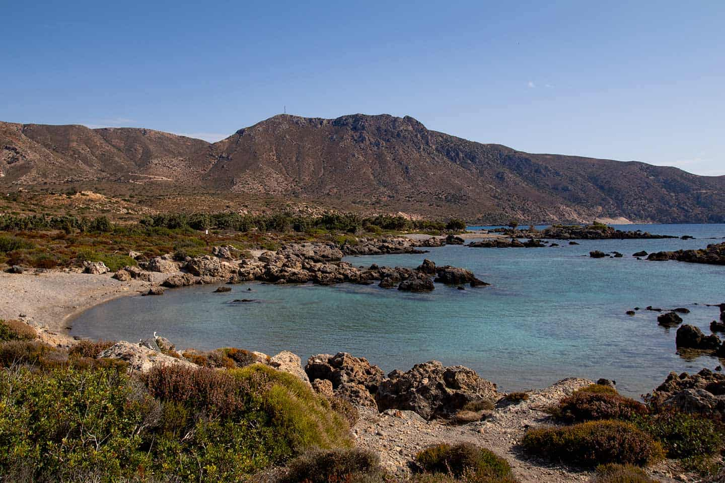 Chania Greece beaches Image of one of the small coves at Kedrodasos Crete