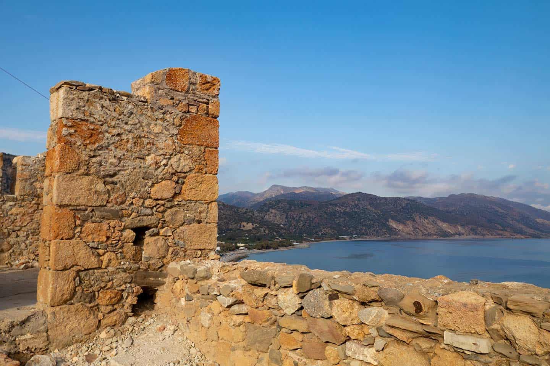 Image of the Castle or kastelli in Paleochora Crete Greece