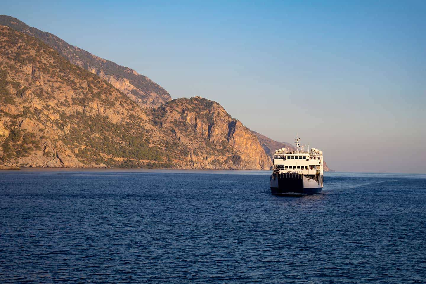 Image of the ferry to Paleochora from Sougia