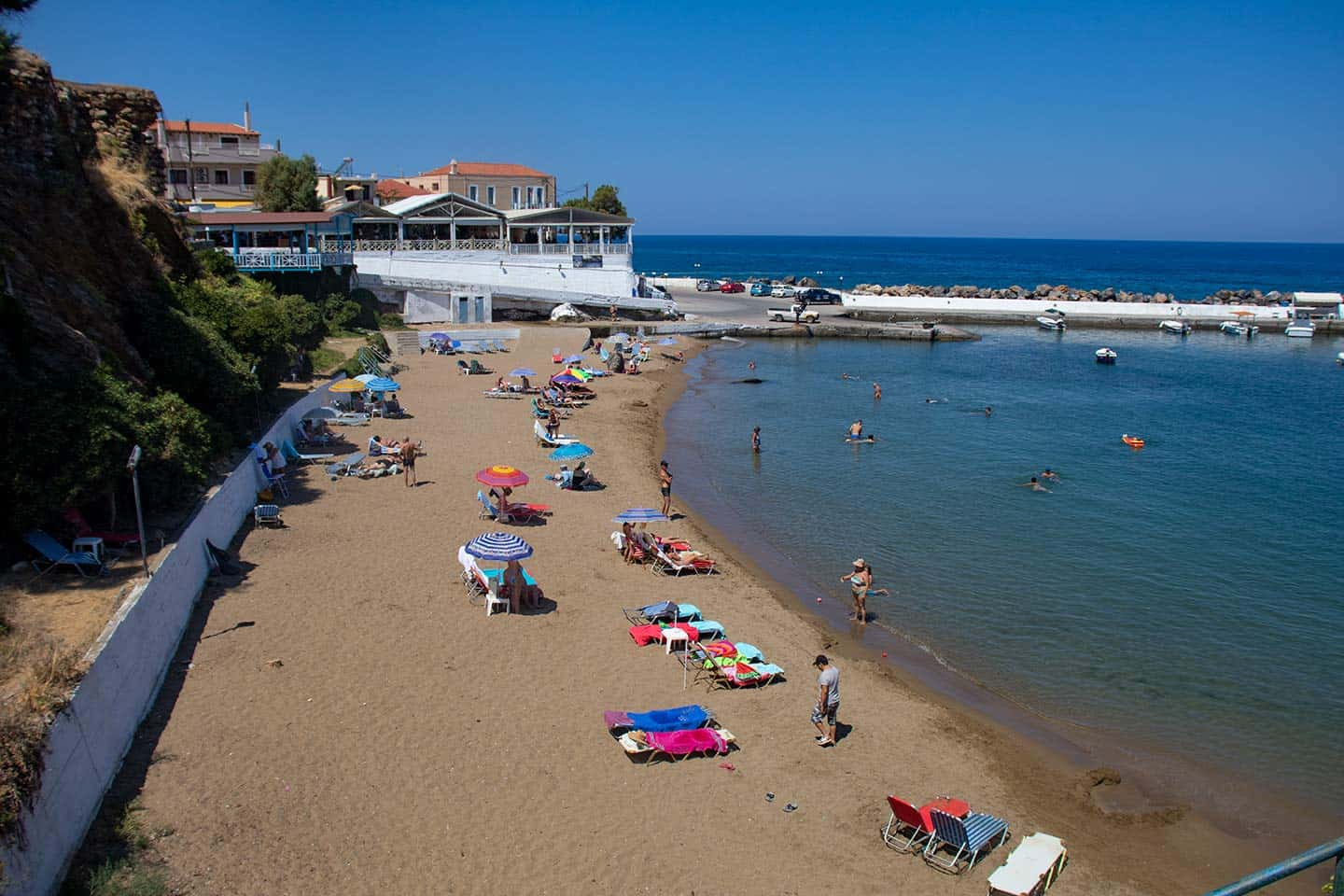 Image of one of the beaches in Panormos Crete