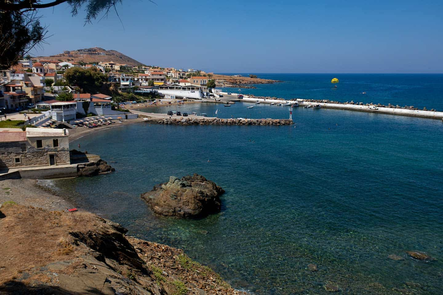 Panormo Beach Image of the beaches and village in Panormos Crete