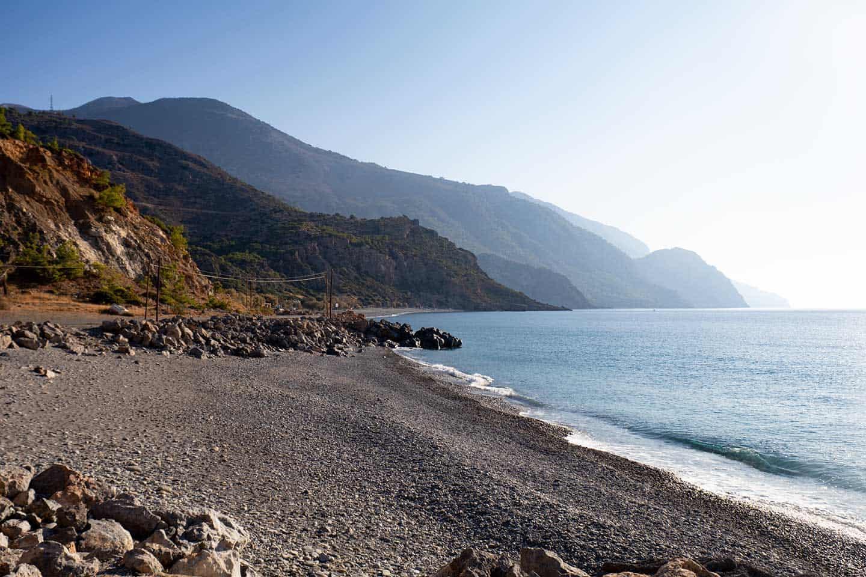 Sougia Beach image of one of the beaches at Sougia Crete