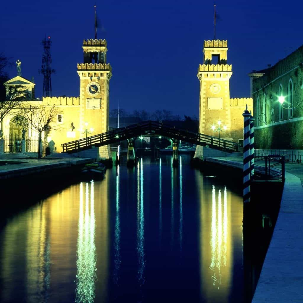 Image of the gateway to the Venice Arsenale and dockyards