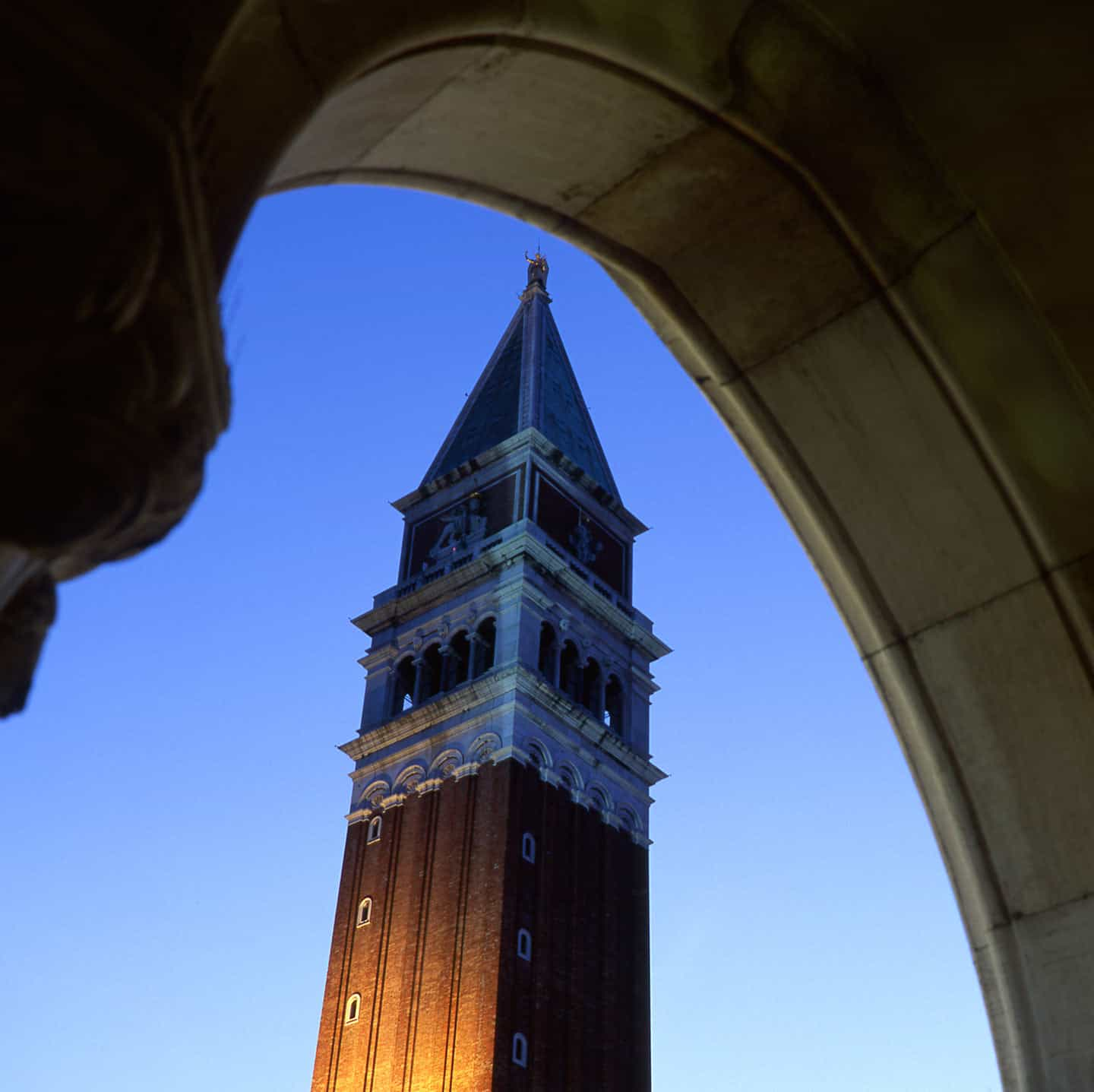 Image of the campanile of Saint Mark in Venice Italy