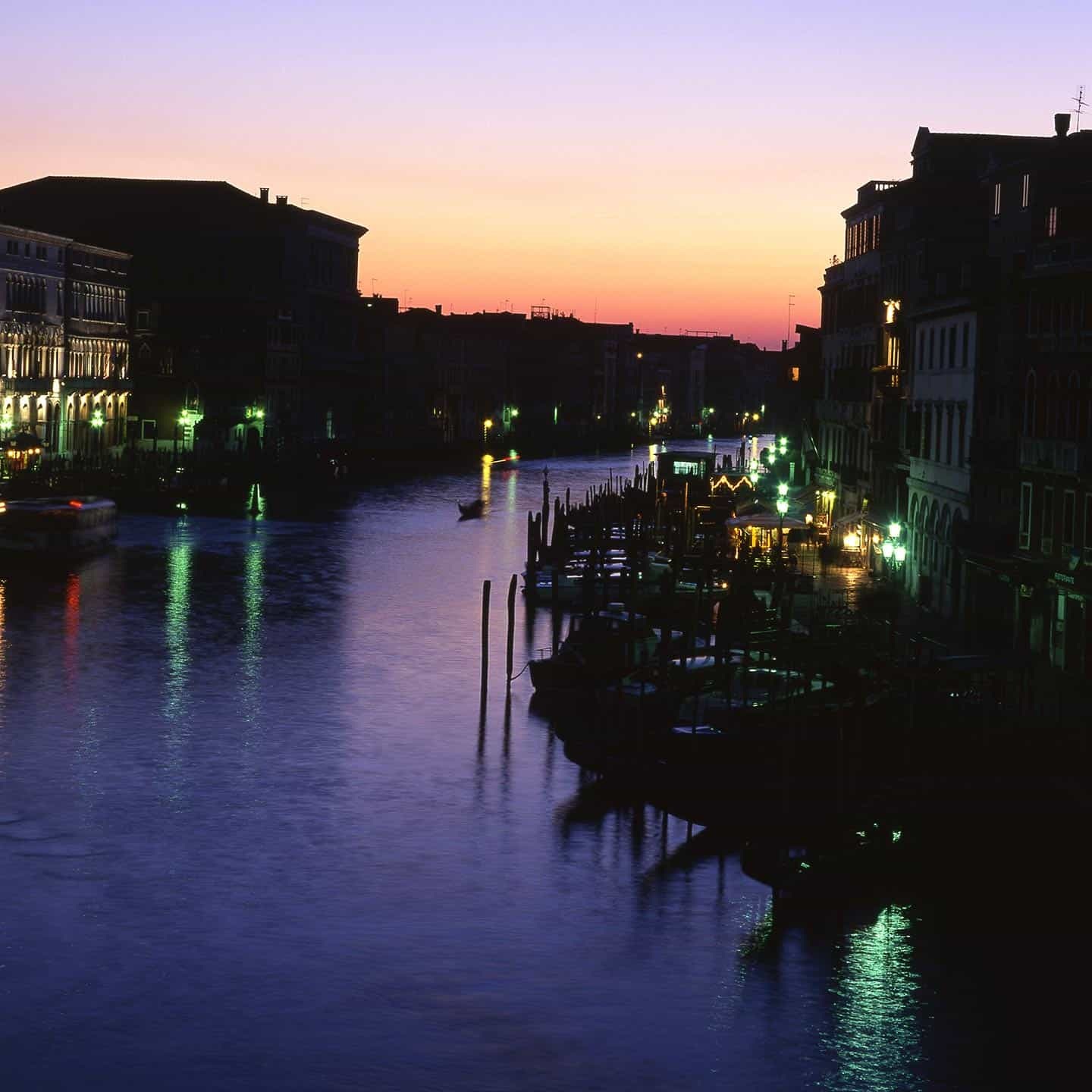 Image of the Grand canal Venice at twilight